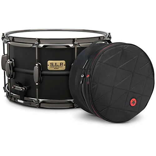 TAMA S.L.P. Big Black Steel Snare Drum with Road Runner Bag