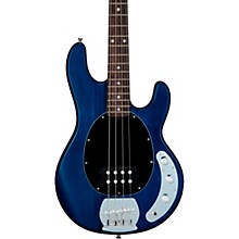 S.U.B. StingRay Rosewood Fingerboard Electric Bass Satin Transparent Blue Black Pickguard