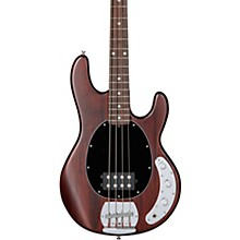 S.U.B. StingRay Rosewood Fingerboard Electric Bass Walnut Stain Black Pickguard