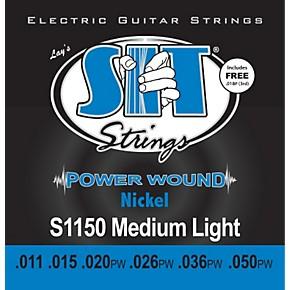 sit strings s1150 medium light power wound nickel electric guitar strings guitar center. Black Bedroom Furniture Sets. Home Design Ideas
