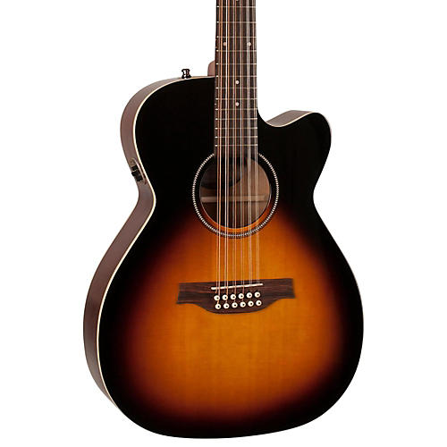 Seagull S12 Spruce Sunburst Cutaway Concert Hall QIT Acoustic-Electric Guitar