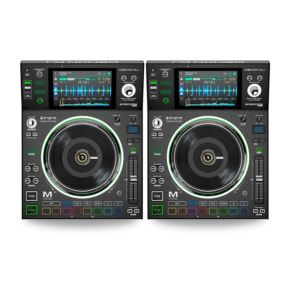Denon SC5000M Prime Professional Motorized DJ Media Players (Pair)