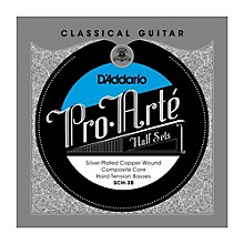 D'Addario SCH-3B Pro-Arte Hard Tension Classical Guitar Strings Half Set