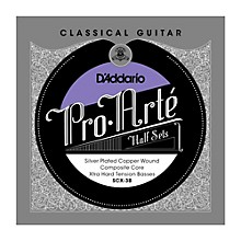 D'Addario SCX-3B Pro-Arte Extra Hard Tension Classical Guitar Strings Half Set