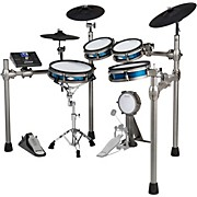 SD1200 Electronic Drum Kit With Mesh Pads Blue Metallic