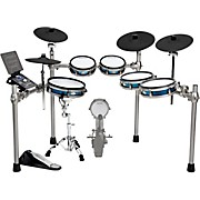 SD1200 Expanded Electronic Drum Kit with Mesh Pads Blue Metallic
