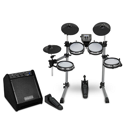 Simmons SD350 Electronic Drum Kit with Mesh Pads and Simmons DA25 Drum Set Monitor