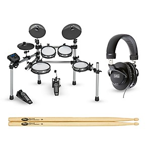 Simmons Sd550 Electronic Drum Set With Mesh Pads Starter
