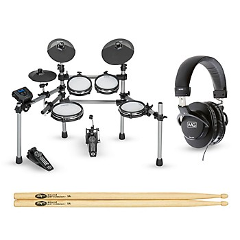 Simmons SD550 Electronic Drum Set with Mesh Pads Starter Bundle