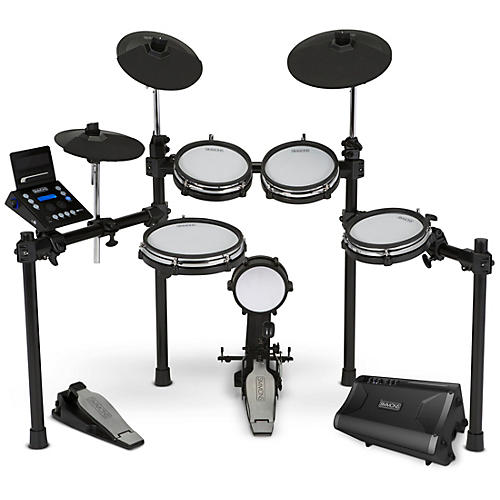 Simmons SD600 Electronic Drum Kit With Mesh Pads, Bluetooth and DA2110 Drum Set Monitor