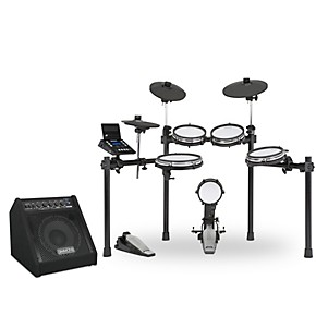 Simmons SD600 Electronic Drum Set with Mesh Heads, Bluetooth and DA50B Monitor