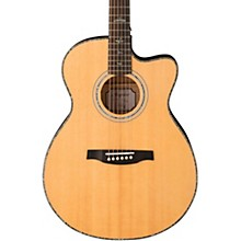 SE Angelus A55 Cutaway Acoustic-Electric Guitar Black Gold