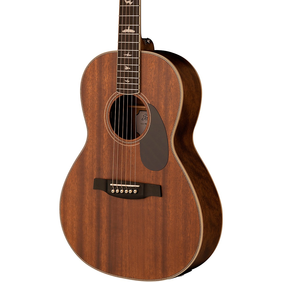 PRS SE P20E Parlor with All-Mahogany Construction Fishman GT1 Pickup System and Satin Finish Acoustic Electric Guitar