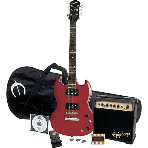 epiphone sg special electric guitar player pack cherry chrome hardware guitar center. Black Bedroom Furniture Sets. Home Design Ideas
