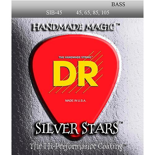 DR Strings SIB-45 Silver Stars Coated 4 String Medium Bass Guitar Strings