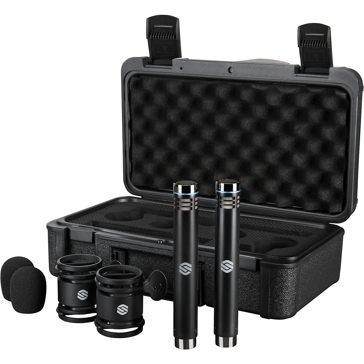 Sterling Audio SL230MP Matched Pair, Medium Diaphragm Condenser Microphones with Shockmounts, Windscreens, and Carry Case