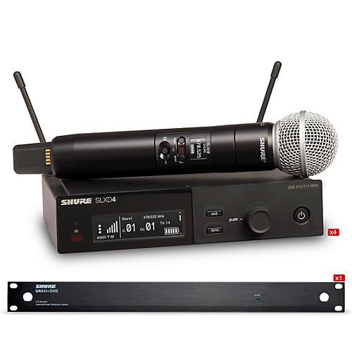 Shure SLXD 4 Handheld Wireless Microphone Bundle