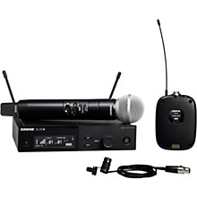 SLXD124/85 Combo System with SLXD1 Bodypack, SLXD4 Receiver, SM58 and WL185 Lavalier Microphone Band H55