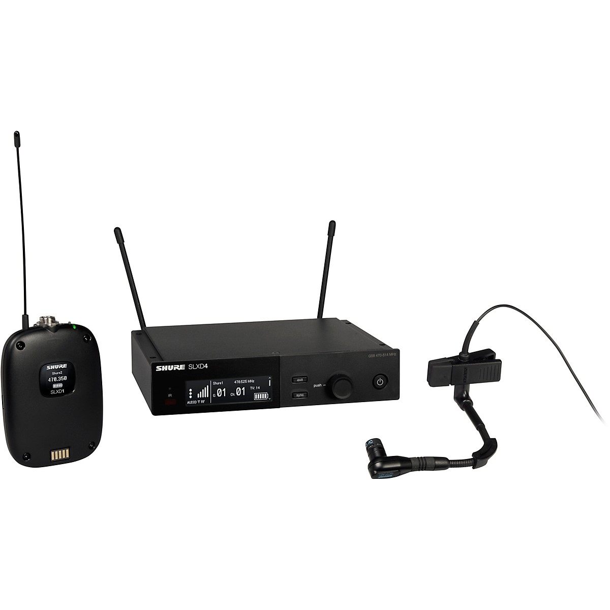 Shure SLXD14/98H Combo Wireless Microphone System