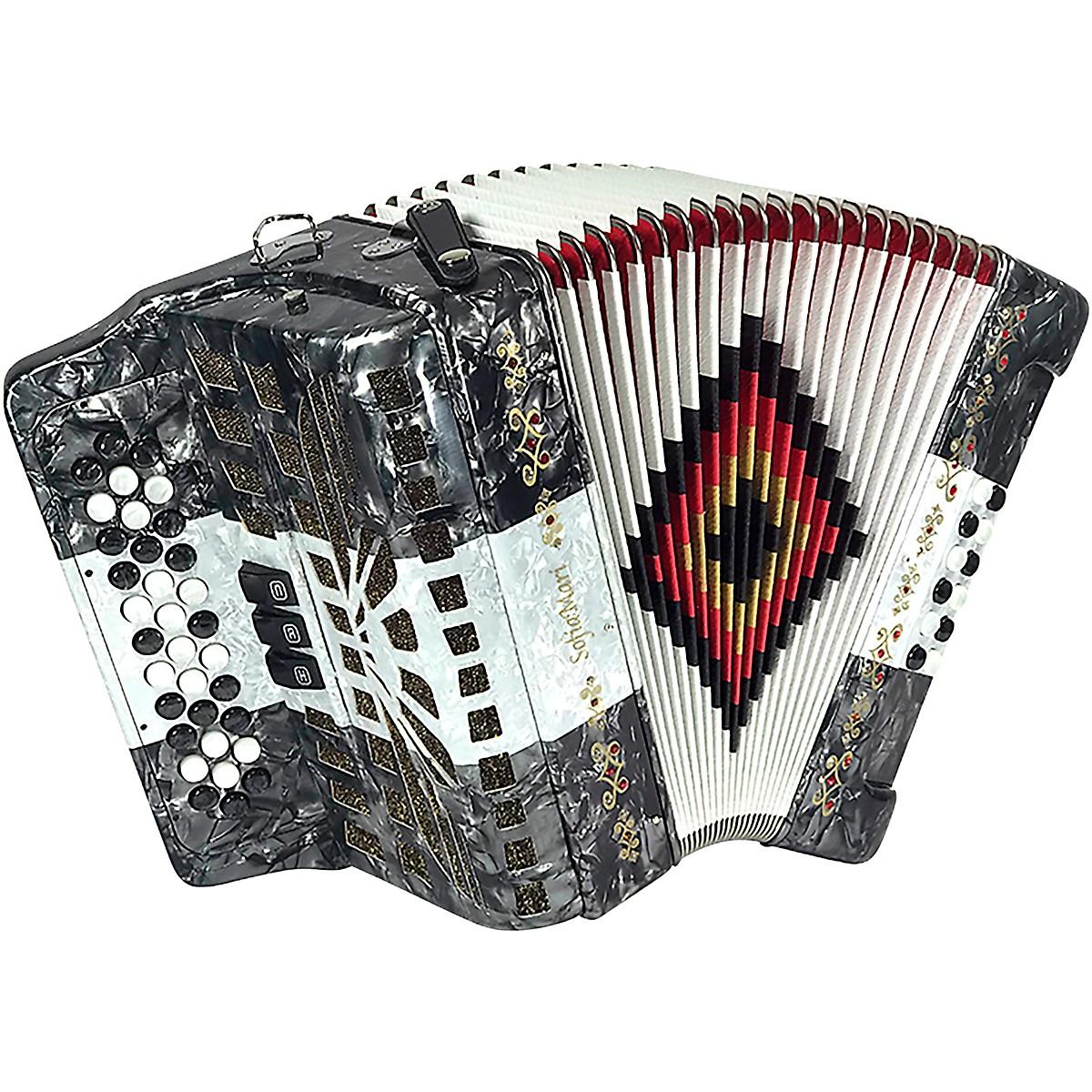 SofiaMari SM-3412 34-Button 12 Bass Accordion FBE