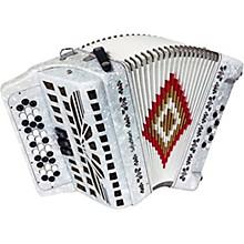 SofiaMari SM-3412 34-Button 12-Bass Accordion GCF Level 1 White Pearl