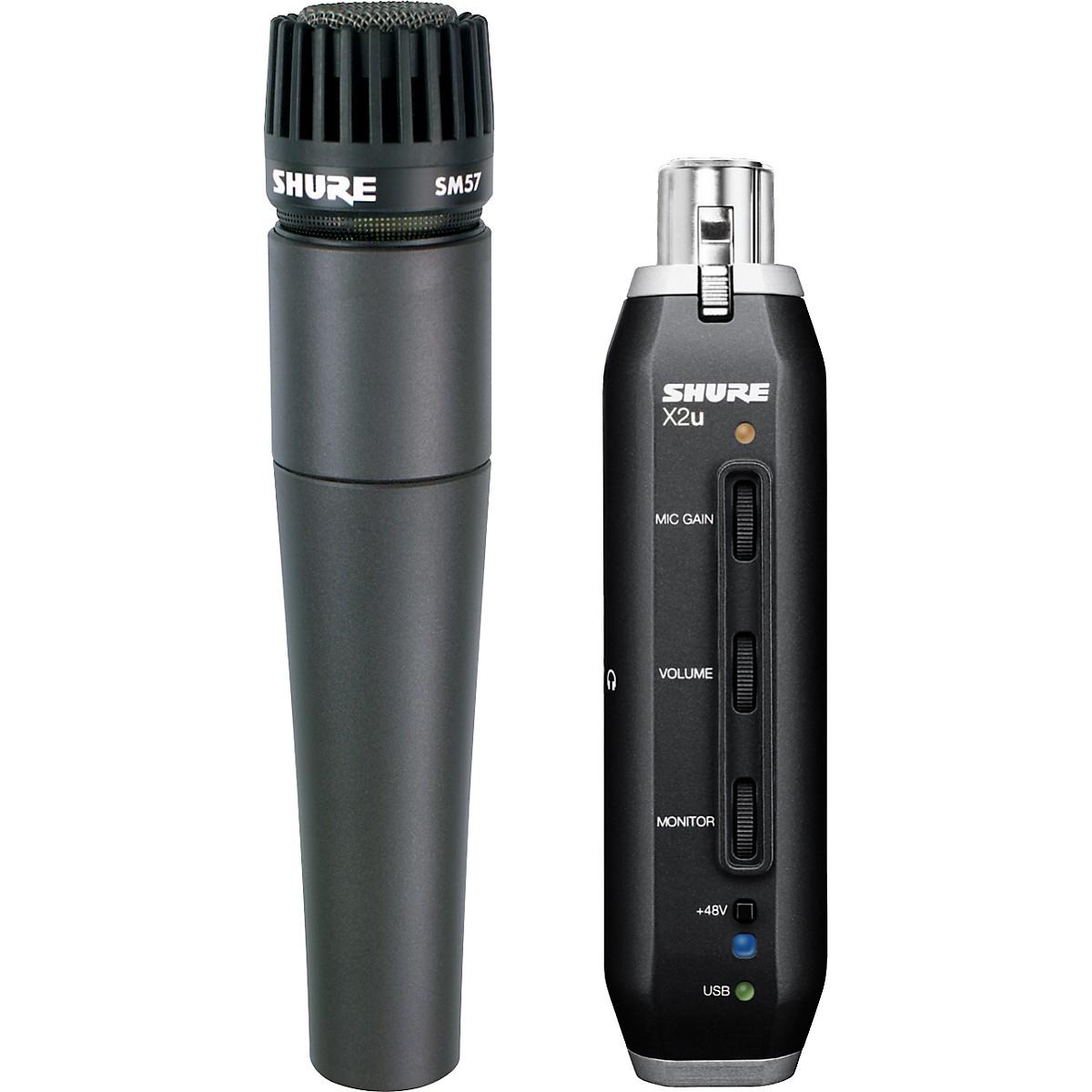 Shure SM57-X2U SM57 MIC WITH XLR-TO-USB PACKAGE