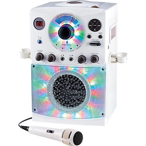 The Singing Machine SML385BT Bluetooth Karaoke System with CD Player and LED lights