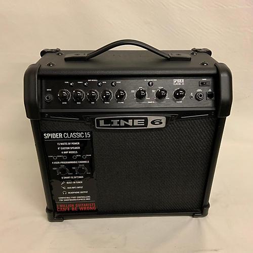 used line 6 spider classic 15 guitar combo amp guitar center. Black Bedroom Furniture Sets. Home Design Ideas