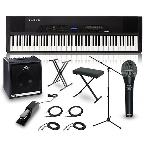 Kurzweil SPS4-8 88-Key Complete Stage Piano Package