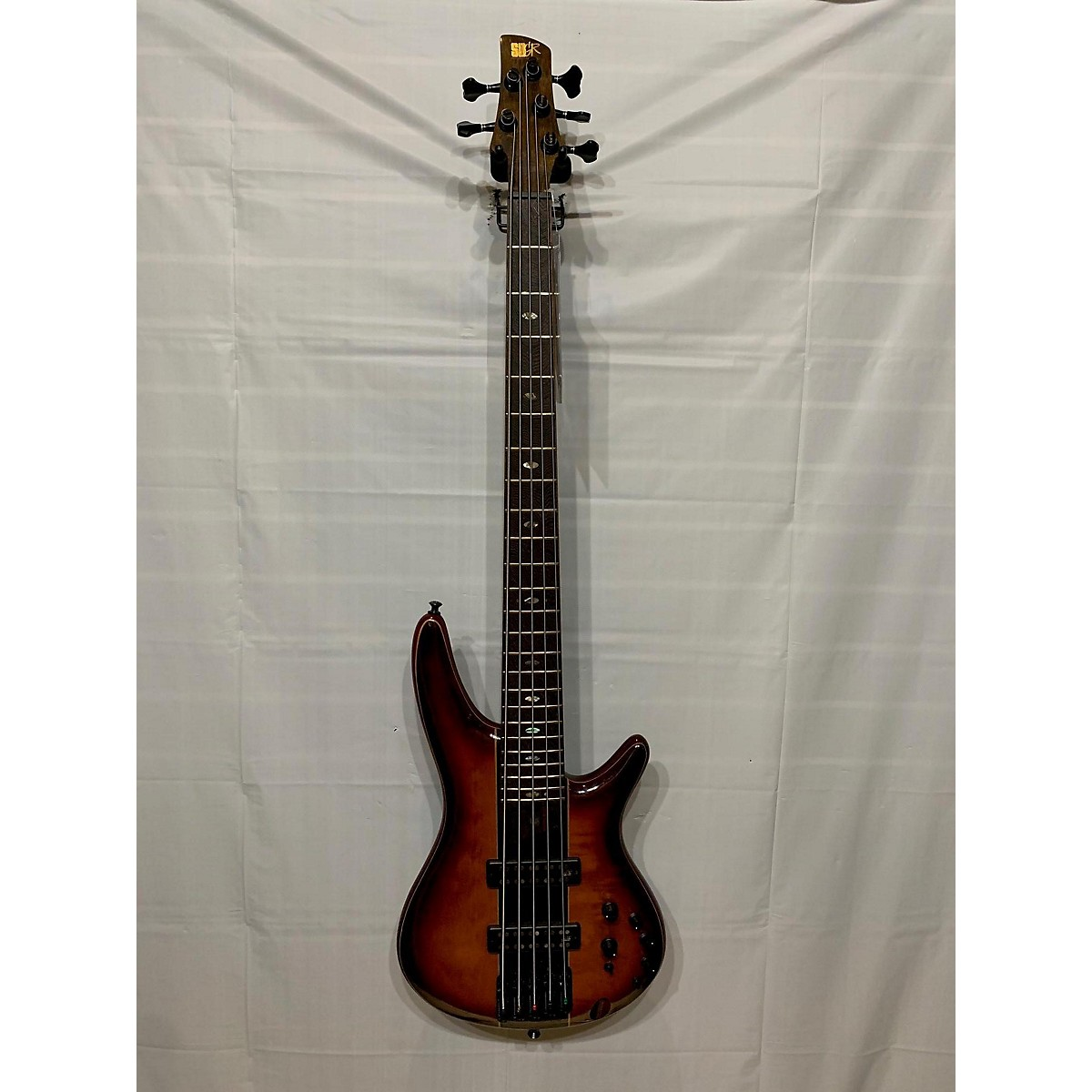 Ibanez SR2405W Quilted Maple Top 5-String Bass Brown Electric Bass Guitar