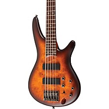 Ibanez SR505PB 5-String Electric Bass Guitar Level 1 Flat Brown Burst