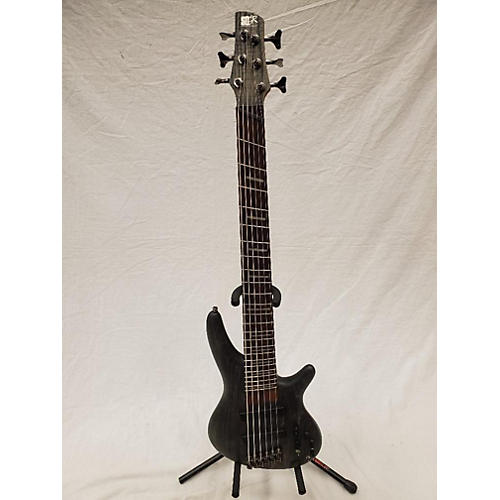 used ibanez srff806 electric bass guitar satin black guitar center. Black Bedroom Furniture Sets. Home Design Ideas