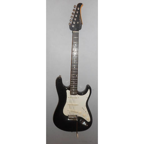 Silvertone SS-11 Black Solid Body Electric Guitar