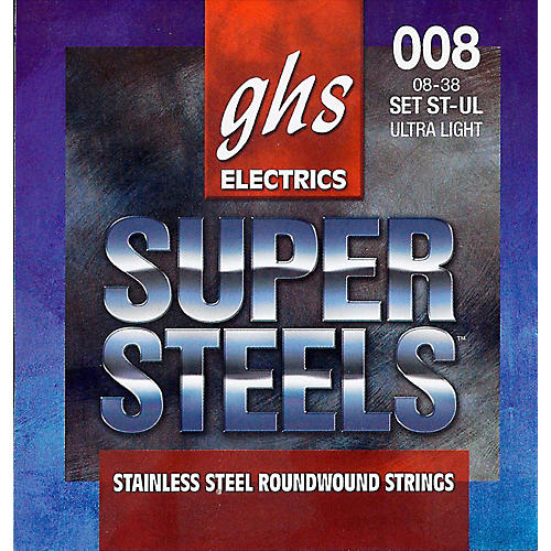 GHS ST-UL Super Steels Roundwound Ultra Light Electric Guitar Strings