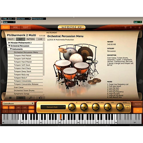 IK Multimedia ST3 Orchestral Percussion