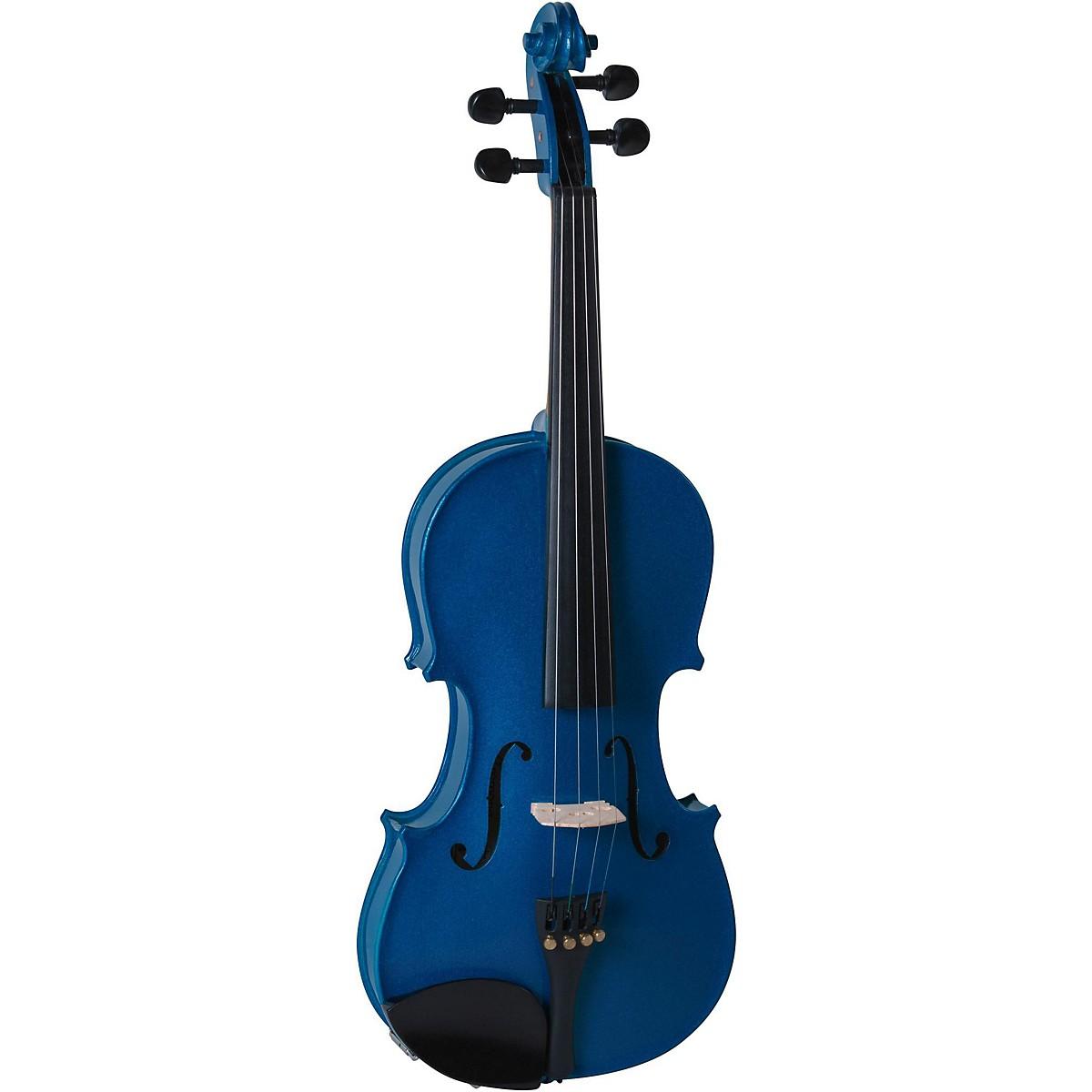 Cremona SV-130BU Series Sparkling Blue Violin Outfit