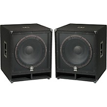 "Yamaha SW118V Club Series V 18"" Subwoofer Pair"