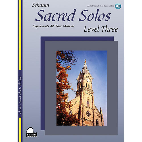 SCHAUM Sacred Solos - Level Three Educational Piano Book with CD (Level Early Inter)