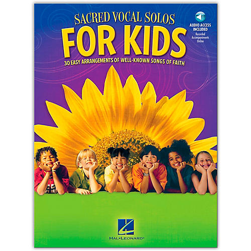 Hal Leonard Sacred Vocal Solos For Kids Book/Online Audio