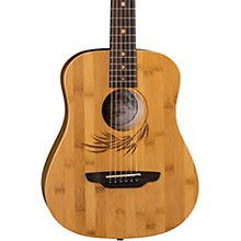 Luna Guitars Safari Bamboo 3/4 Satin Natural Acoustic Guitar
