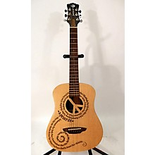 Luna Guitars Safari Peace Acoustic Guitar
