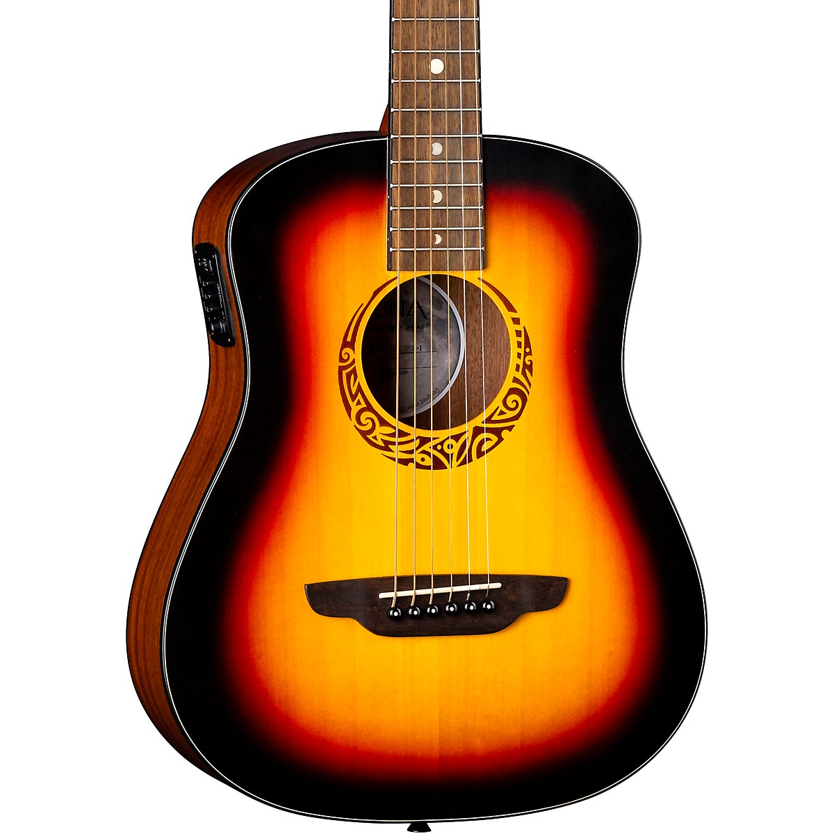 Luna Guitars Safari Tribal 3/4 Size Travel Acoustic/Electric Guitar