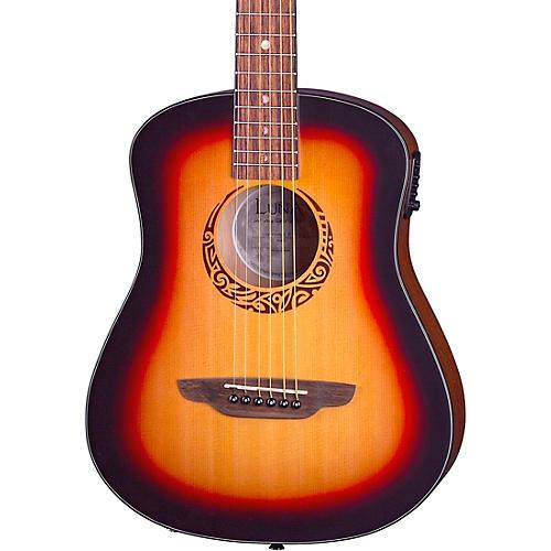 Luna Guitars Safari Tribal Travel Acoustic-Electric Left-Handed Guitar