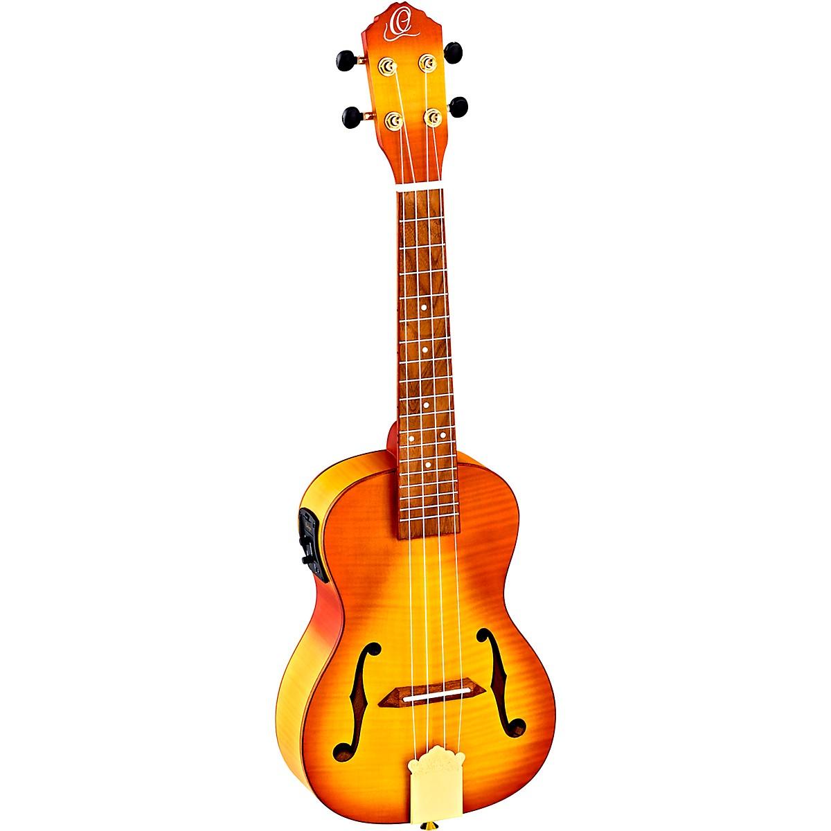 Ortega Saloon Series RUSL-HSB Archtop Concert Acoustic-Electric Ukulele