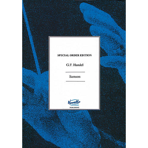 Novello Samson (Flute Parts Edited By Donald Burrows) Music Sales America Series Softcover