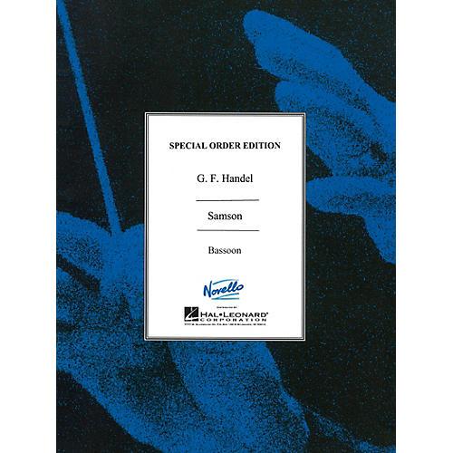 Novello Samson Music Sales America Series Book by George Frideric Handel
