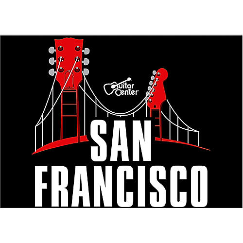 Guitar Center San Francisco Guitar Bridge Graphic Magnet
