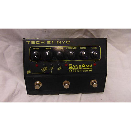 Tech 21 Sansamp PBDR Bass Driver DI Bass Effect Pedal