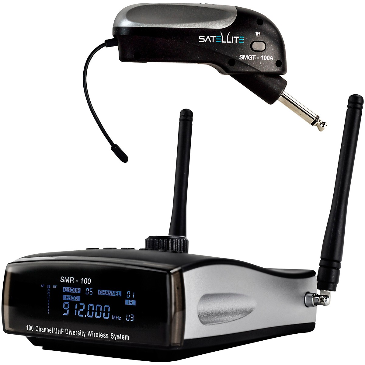Nady Satellite SMGT-100A True Diversity Wireless Instrument System for Electric Guitar or Bass, Top Mounted