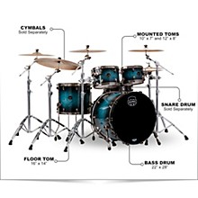 Saturn V Exotic Edition 4-Piece Rock Shell Pack Deep Water Maple Burl